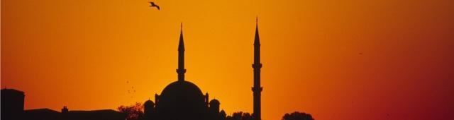 Silhouette einer Moschee